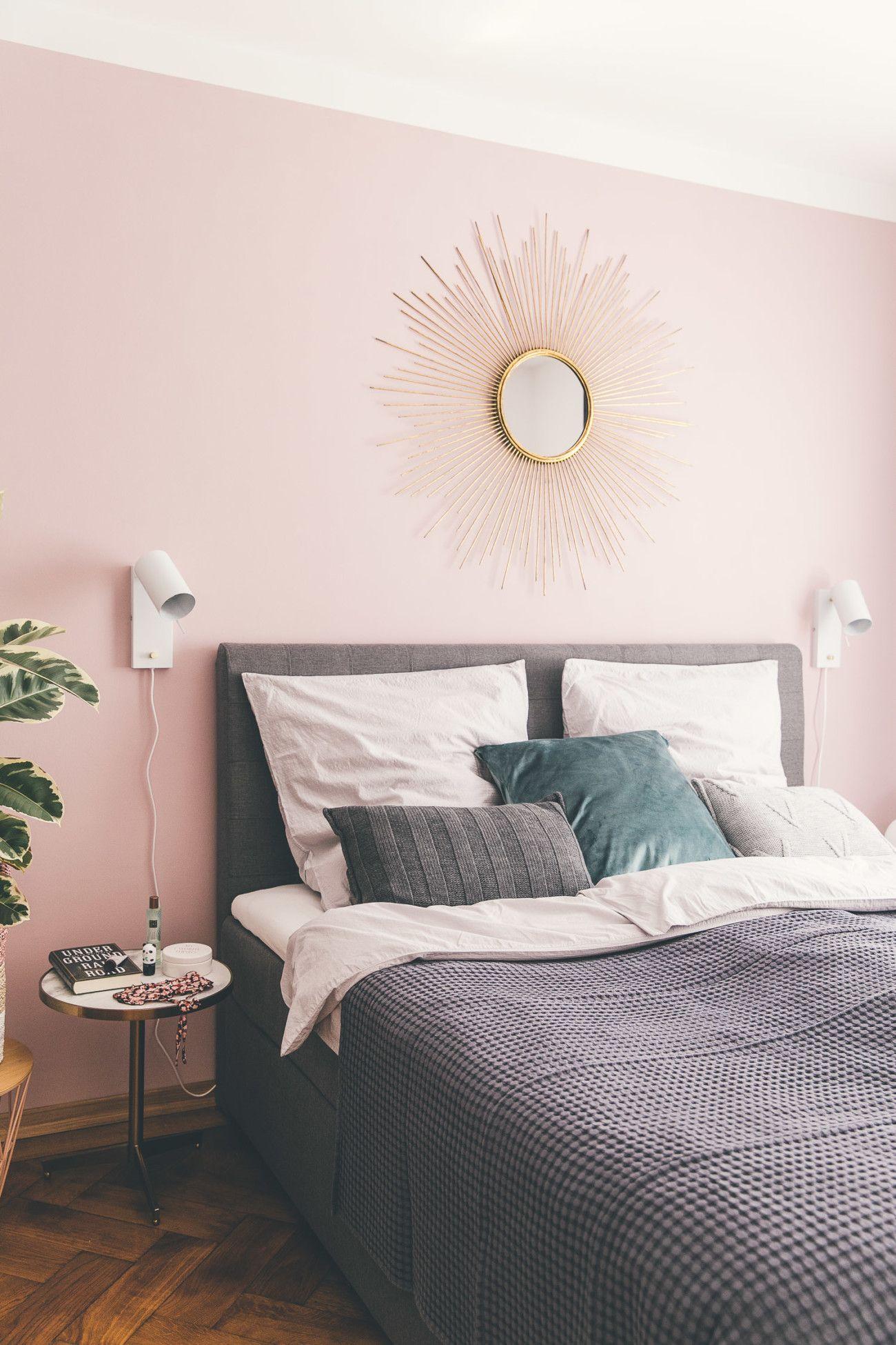 Ein Schlafzimmer Update Rosa wände, Schlafzimmer wand