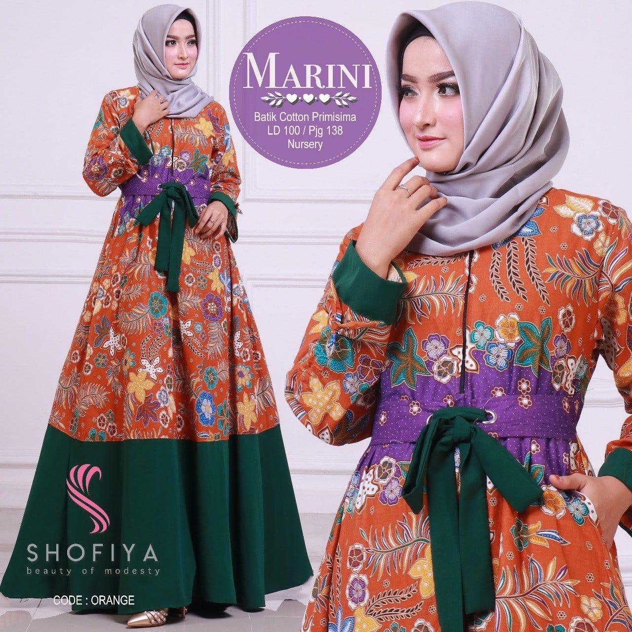 Desain Gamis Batik Modern Remaja di 9  Model pakaian muslim