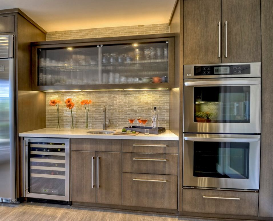 gray stained kitchen cabinets. These gray toned stains have a true brown base color  without red or