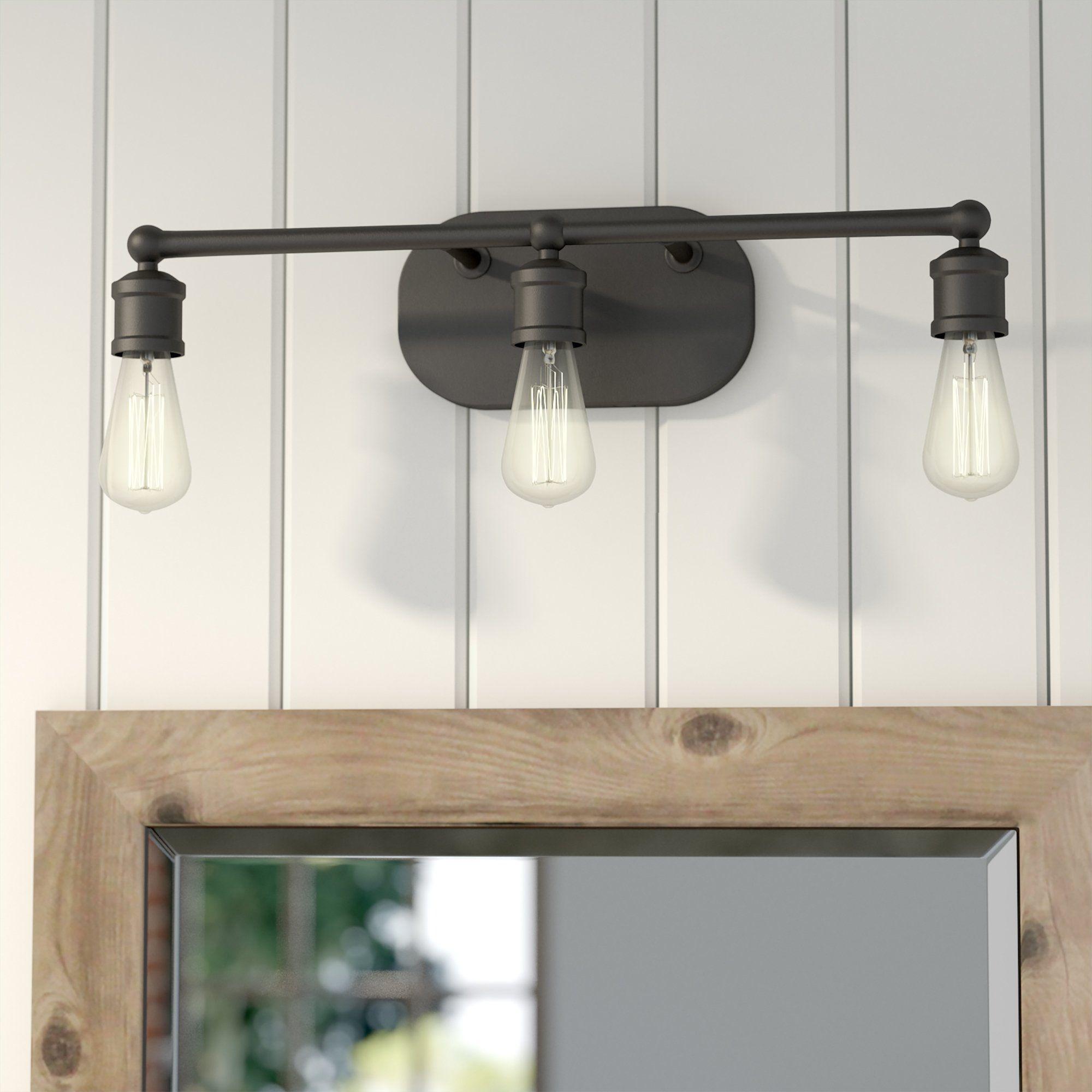 3light vanity light half bathroom farmhouse
