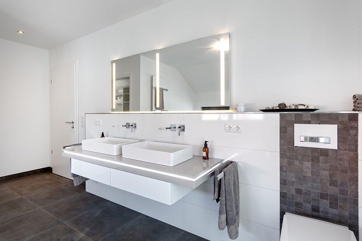 Badezimmer Modern Mit Doppelwaschbecken Bad Ideen