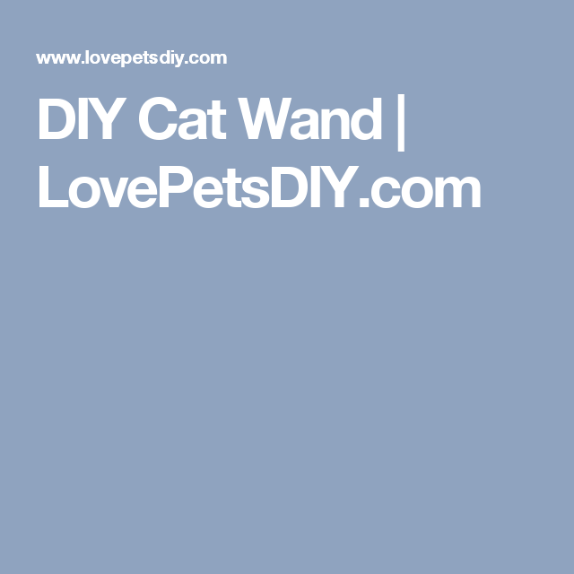 DIY Cat Wand | LovePetsDIY.com