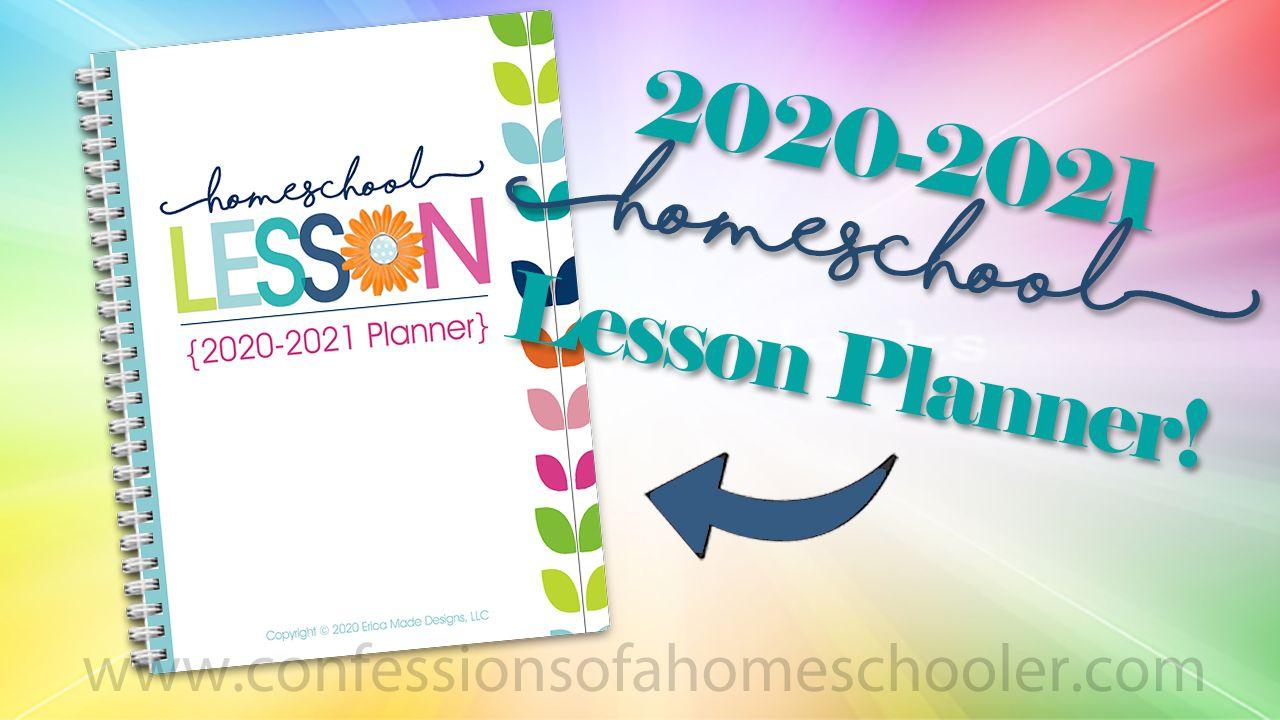 20202021 homeschool lesson planner pdf in 2020