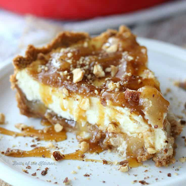 Caramel Apple Cheesecake - Belle of the Kitchen