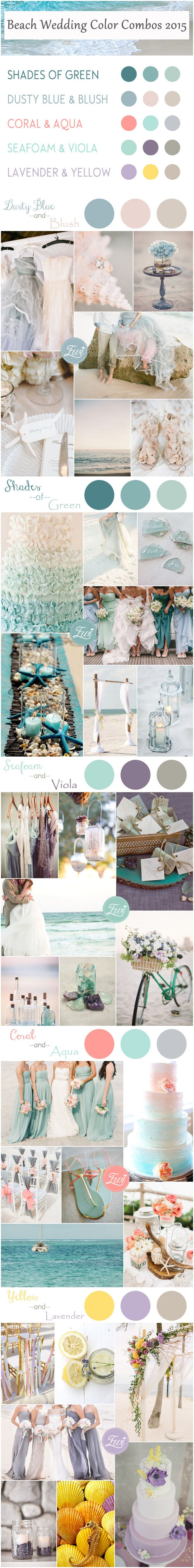 Top 5 Beach Wedding Color Ideas for Summer 2015 | Pinterest | Beach ...