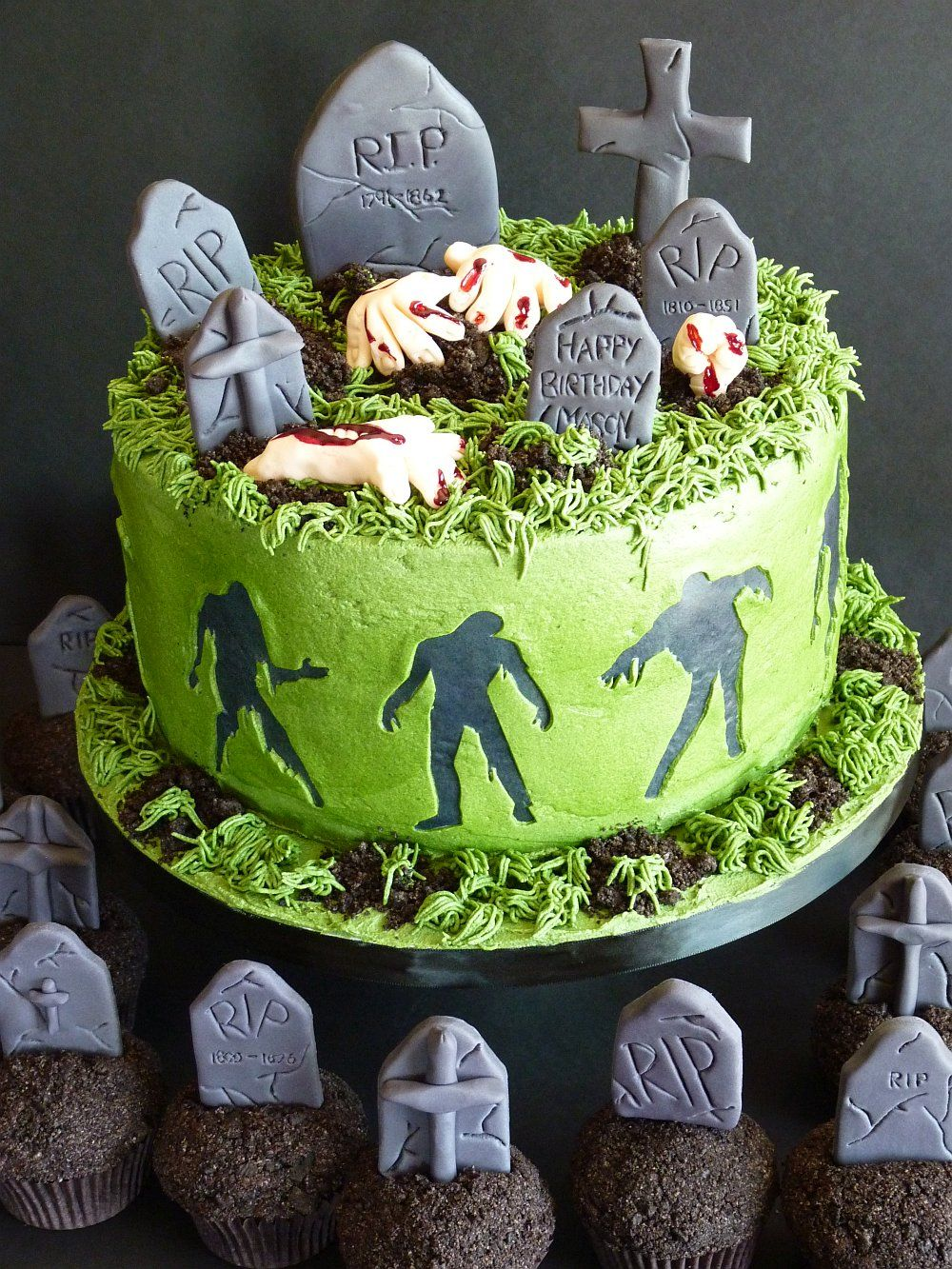 Cemetery Cake Really Nice One Zombie Cakes Zombie