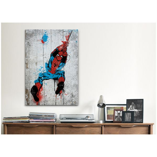 ... Icanvas Marvel Comic Book Spider Man Spray Paint Canvas Print Wall Art  ... Part 53