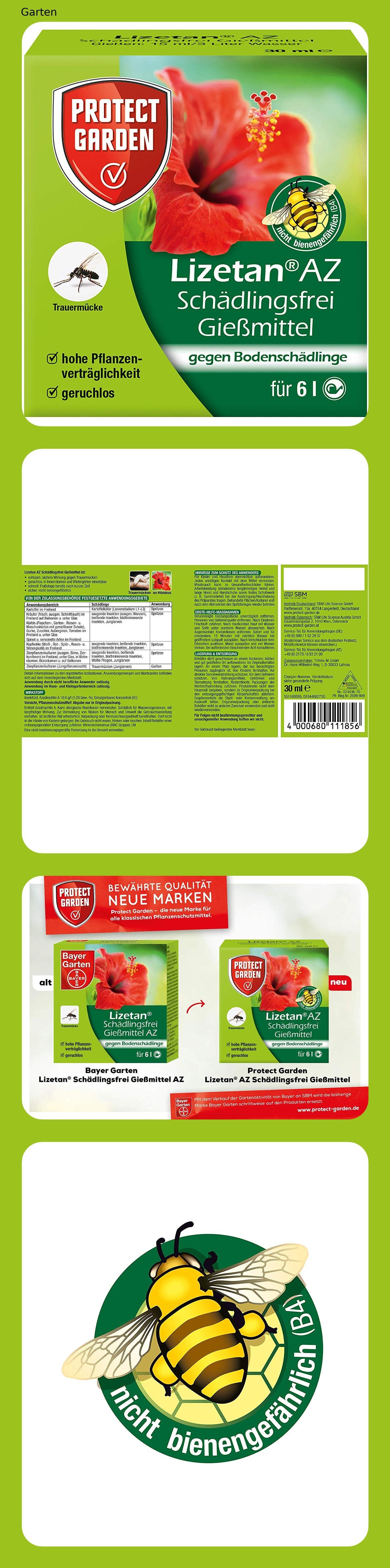 Protect Garden Lizetan Az Schadlingsfrei Giessmittel Ehem Bayer Garten Insektenabwehr Draussen 30 Ml In 2020 Schadlinge Garten Insekten