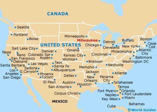 Milwaukee Maps And Orientation Milwaukee Wisconsin WI USA - Milwaukee on us map