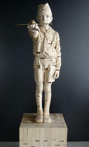 Gehard Demetz - Contemporary Artist - Wood Sculpture - Idea 2009 - Daysleeper.
