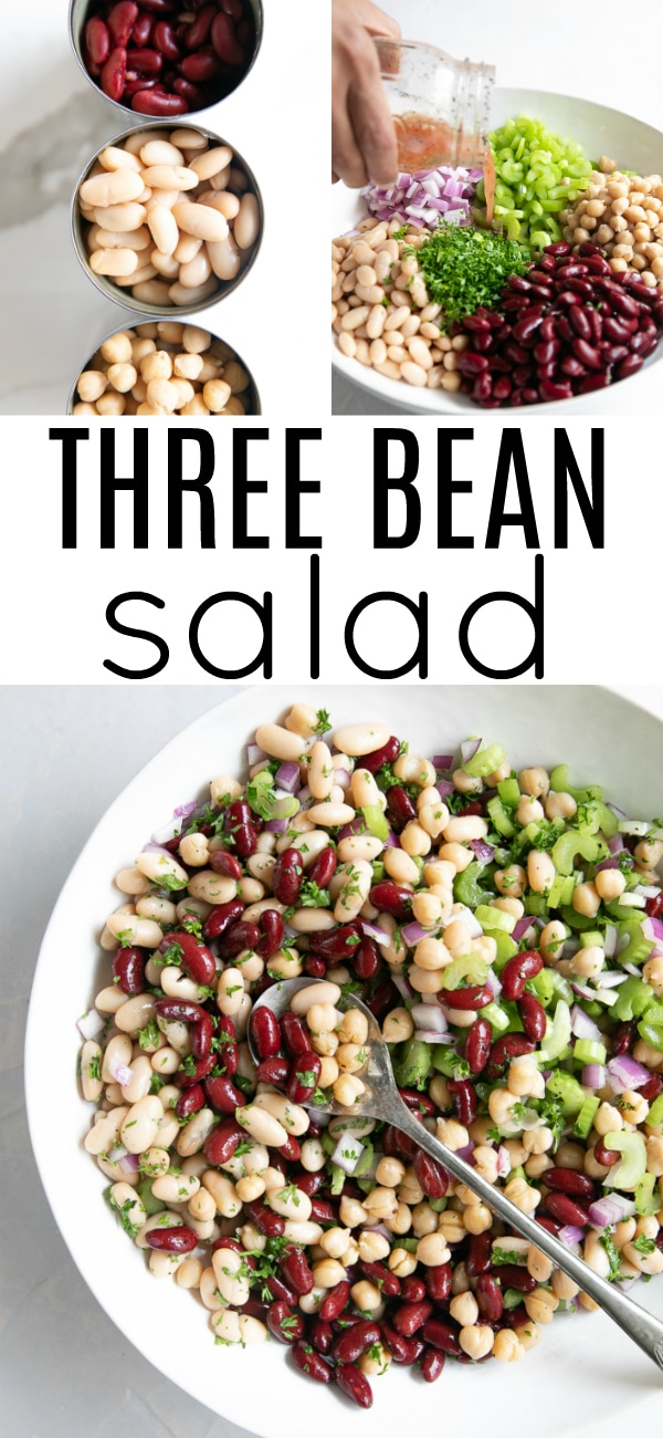 Easy Three Bean Salad Recipe The Forked Spoon Recipe In 2020 Three Bean Salad Bean Salad Recipes Salad