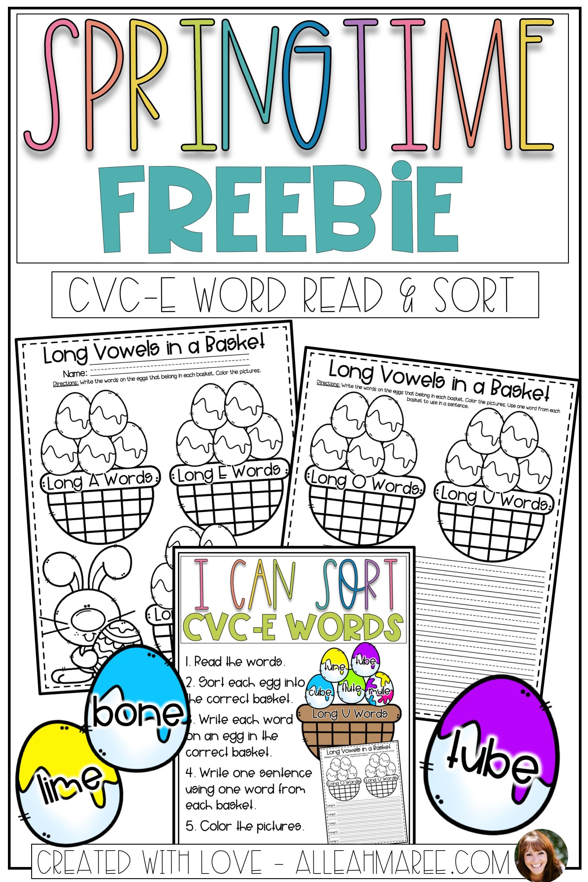 Spring Easter Activities Cvc E Word Read And Sort Egg