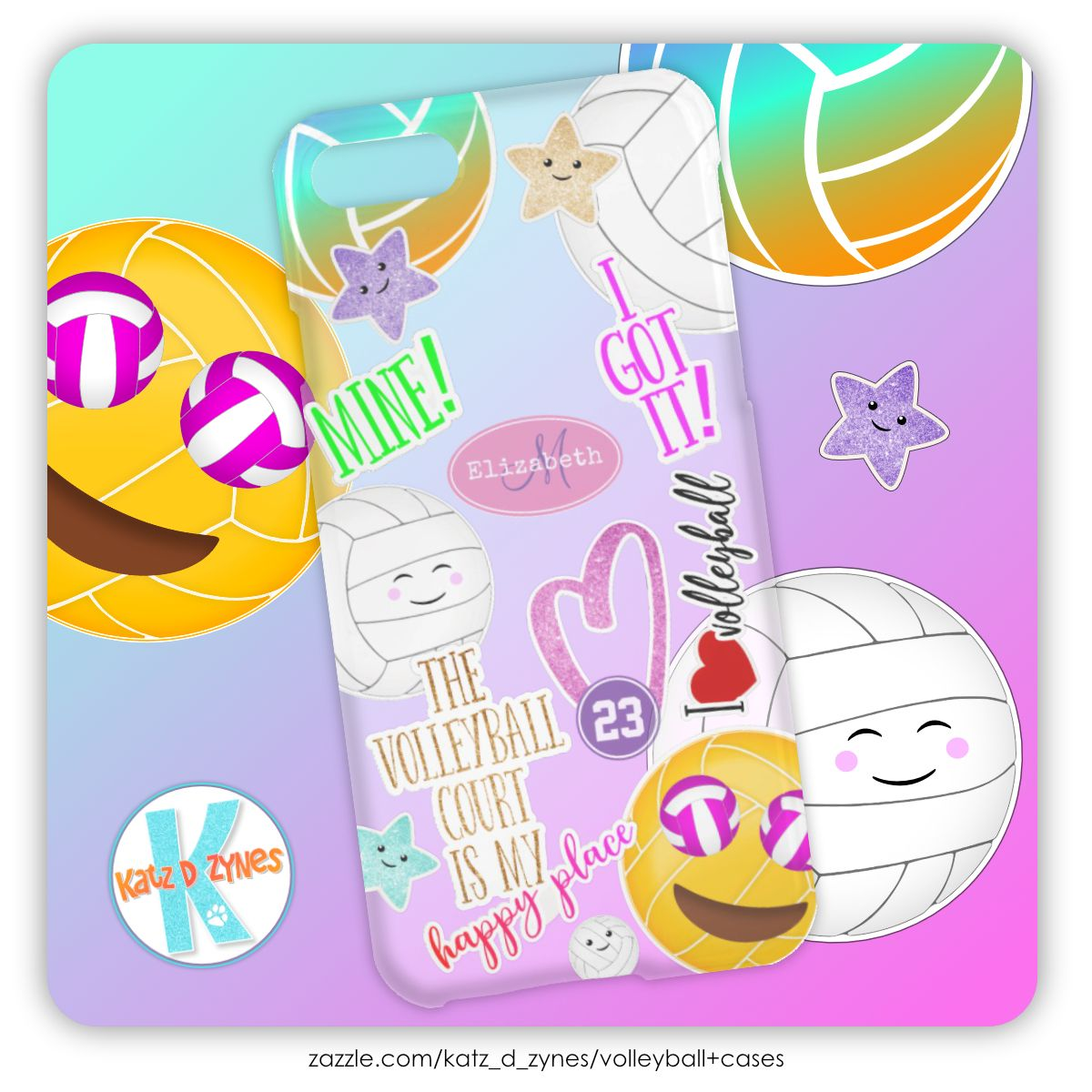 I Love Volleyball Emoji Kawaii Cute Stickered Look Uncommon Iphone Case Zazzle Com Iphone Cases Clear Iphone Case Volleyball Player Gifts