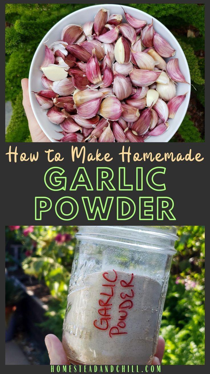 How to Make Homemade Dried Garlic Powder Recipe in 2020