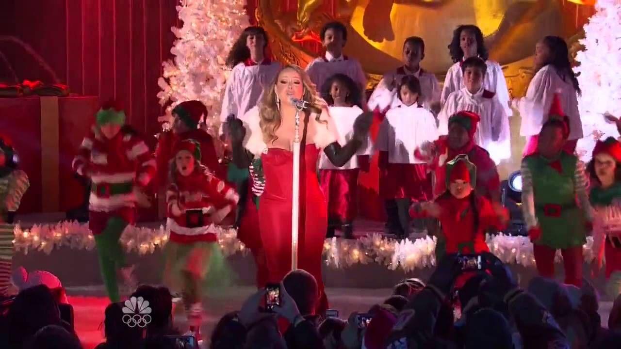 Mariah Carey All I Want For Christmas Is You At Rockfeller Center 2013 Mariah Carey Christmas Favorite Christmas Songs Christmas Music
