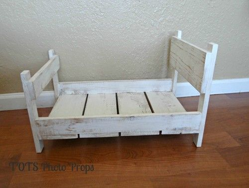 Photo prop distressed baby bed solid wood photography prop antique white ebay