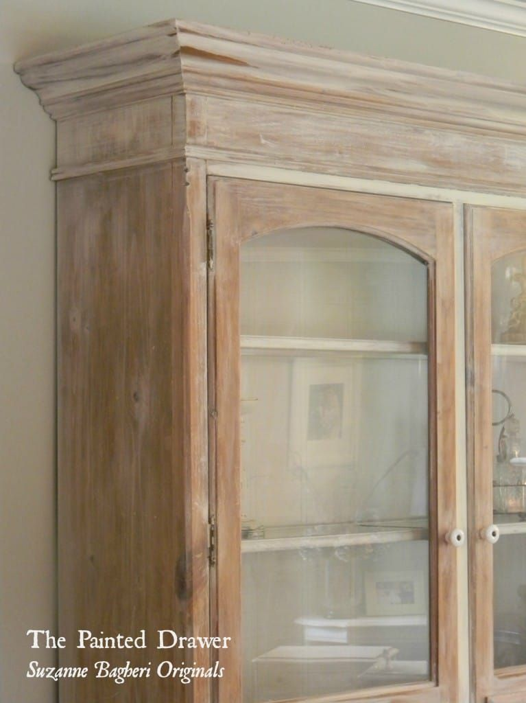 A Whitewashed Farmhouse Cabinet  - Farmhouse cabinets, Painted furniture colors, White washed furniture, Annie sloan old white, Colorful furniture, Cabinet door makeover - A vintage cabinet gets a farmhouse makeover using a whitewash of Annie Sloan Old White with tutorial included