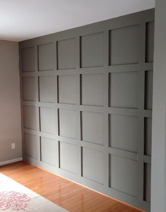 Board And Batten Square Accent Wall Home Home Remodeling New Homes