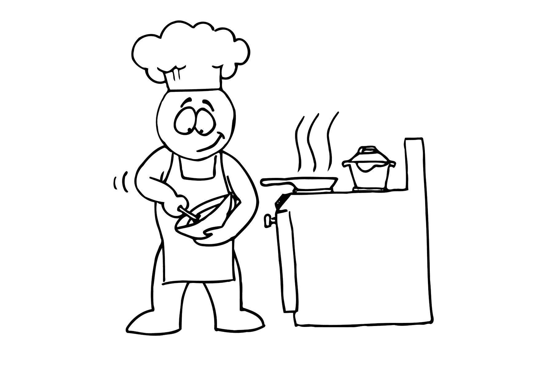 Afbeeldingsresultaat Voor Koken Tekening Tekenen Koken