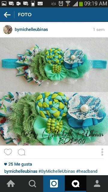 Lazo azul y verde