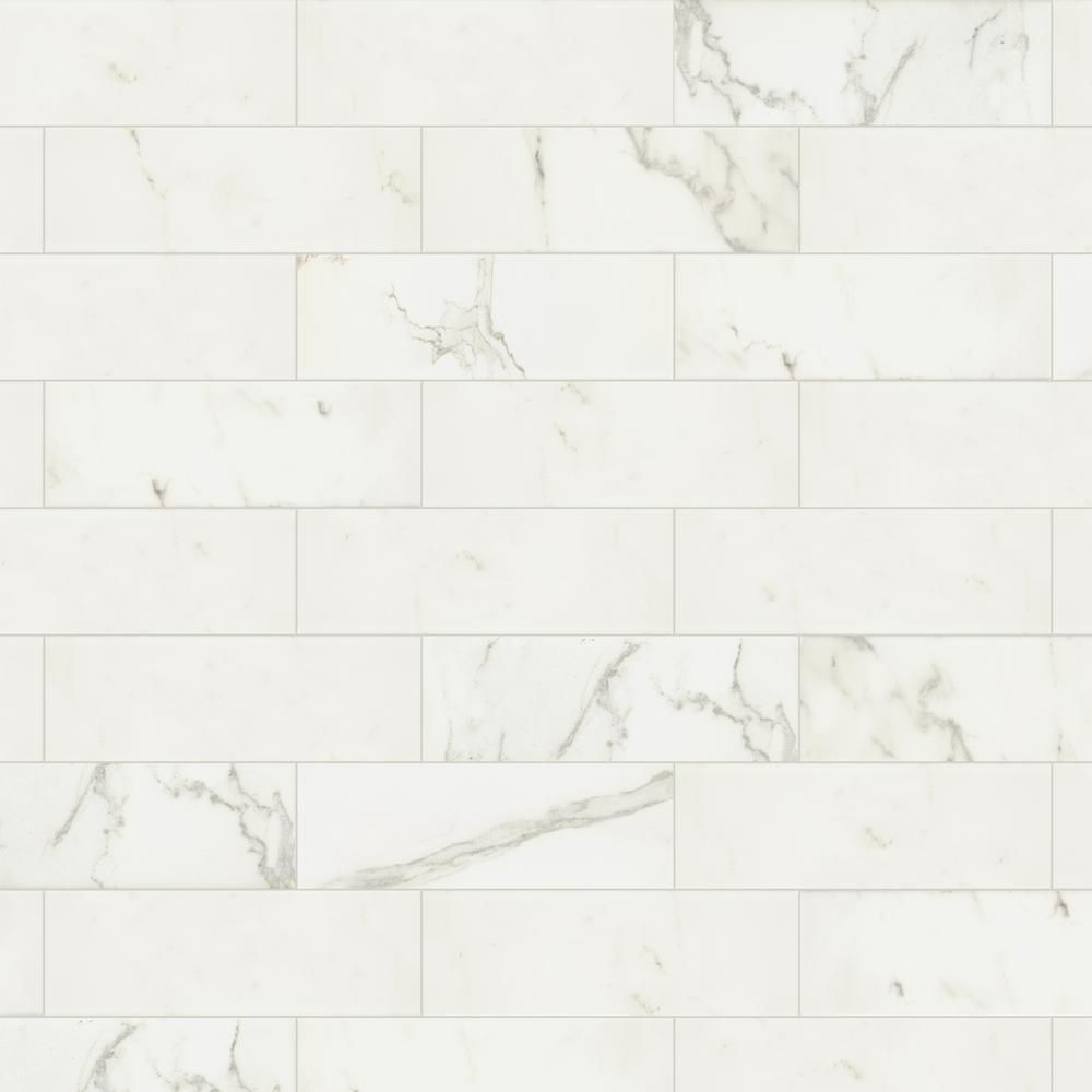 Marazzi developed by nature calacatta 4 in x 12 in glazed marazzi developed by nature calacatta 4 in x 12 in glazed ceramic wall tile 1064 sq ft case dailygadgetfo Choice Image