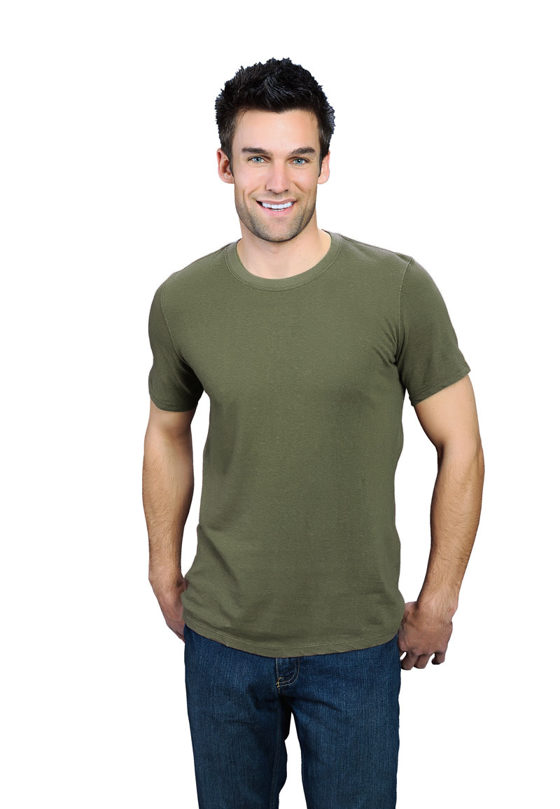 5e2af74ae8ea1 Army Green ONNO bamboo and organic cotton t-shirt for men. This is such an  earthy green that you may become more down-to-earth when you wear it.