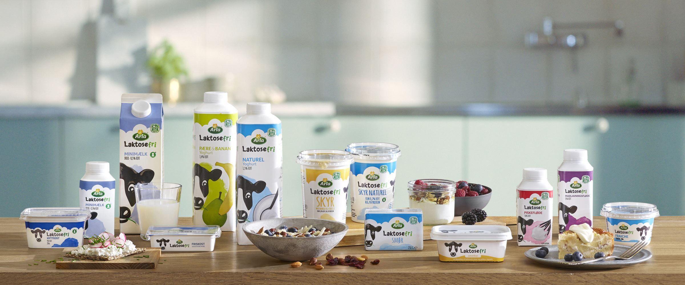 Fin Arla® Laktosefri - information om laktosefri mælkeprodukter RE-19