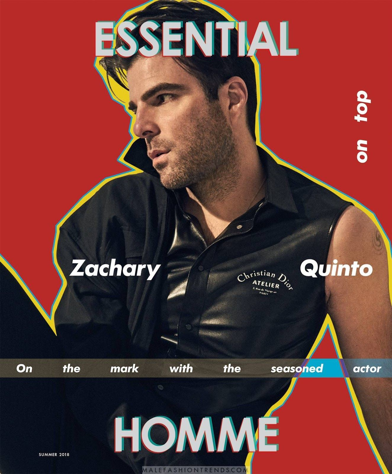 Male Fashion Trends: Zachary Quinto para Essential Homme