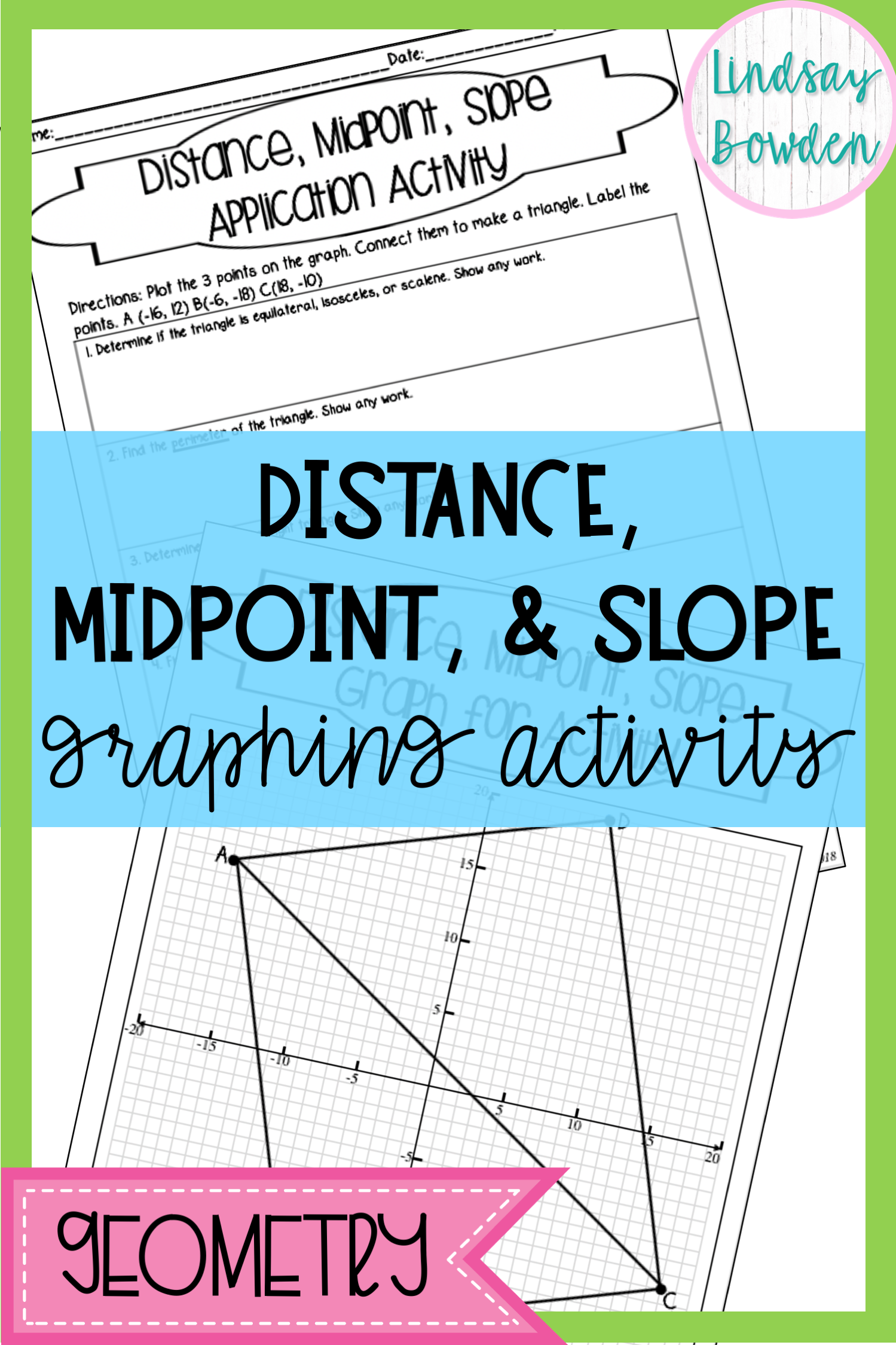 Slope Distance And Midpoint Worksheet