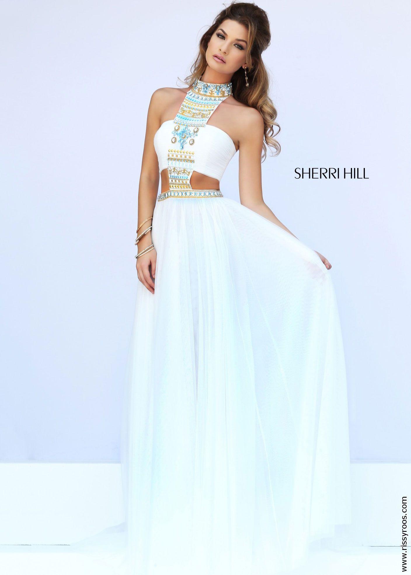 Sherri Hill 11247 Beaded Bandeau Gown | prom dresses | Pinterest