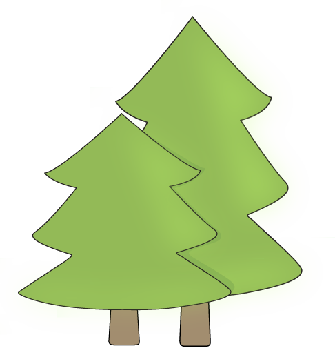two trees clip art two trees image clipped pinterest clip rh pinterest com free clipart pine trees pine tree clipart