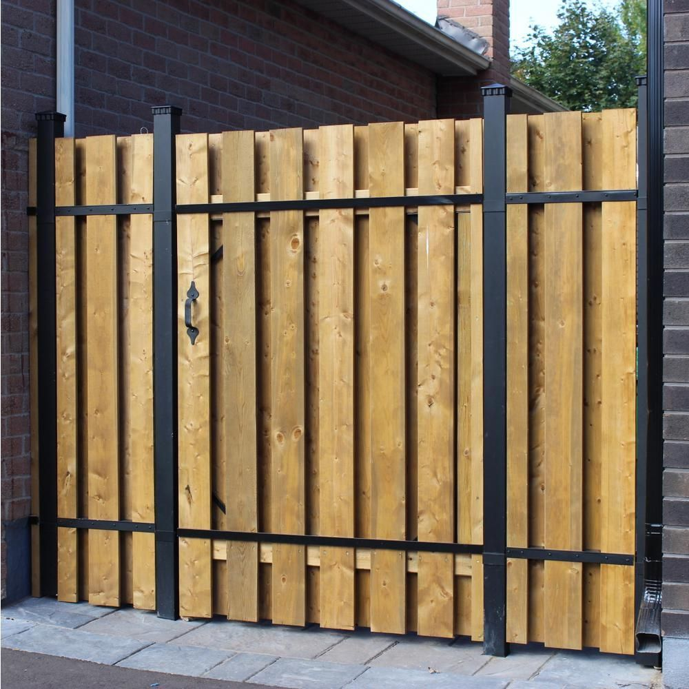 Wood fence gate with metal frame wood fence gate in