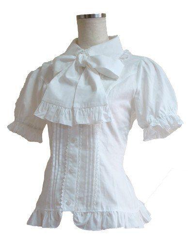 Marueri puff sleeve blouse (White)