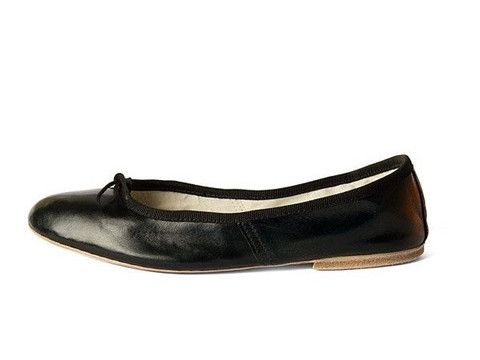 Ballerina Shoes Porselli (Black leather)
