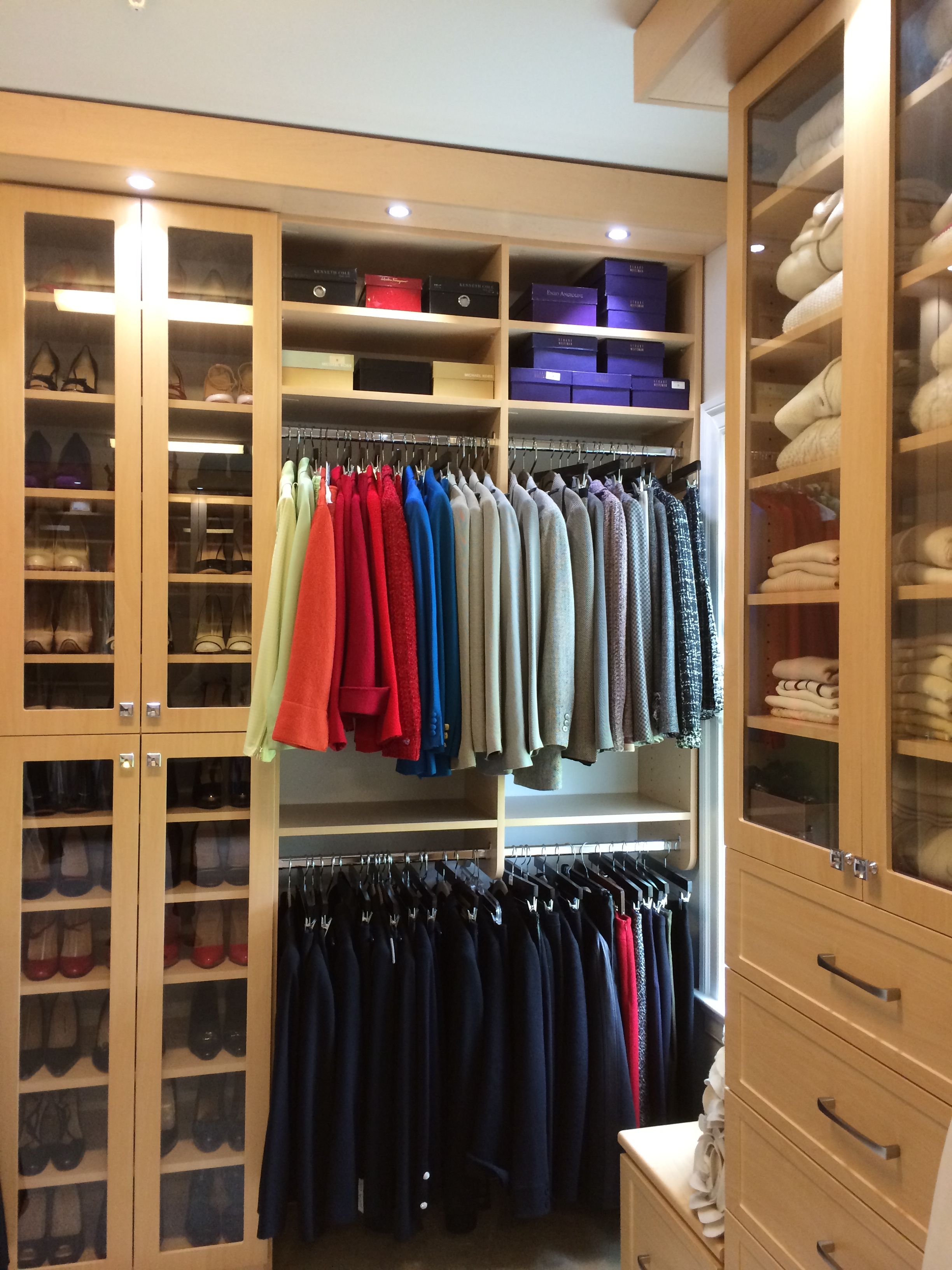 By Properly Dividing And Organizing Your Closet, Getting Ready Will