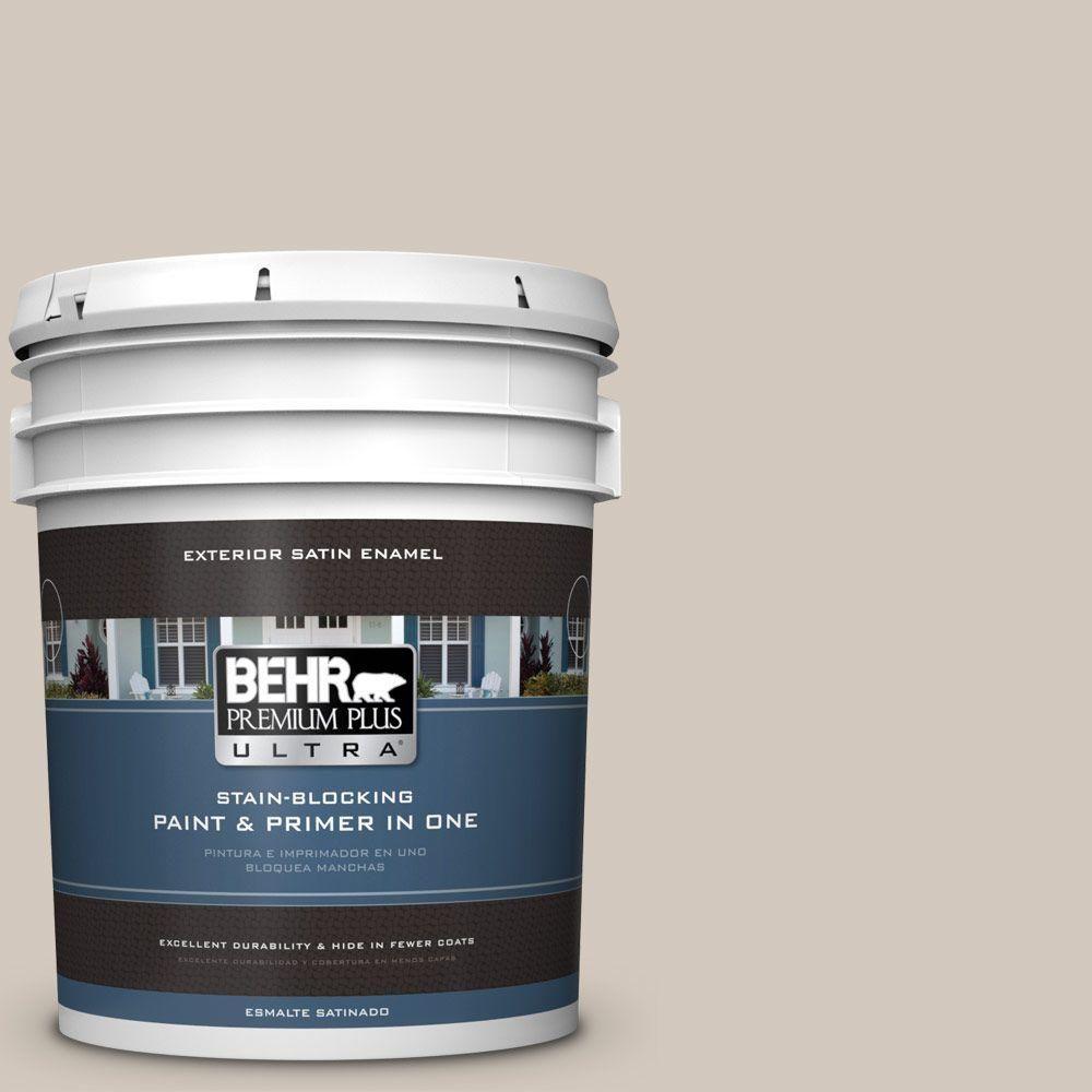 BEHR Premium Plus Ultra 5-gal. #bnc-02 Understated Satin Enamel Exterior Paint