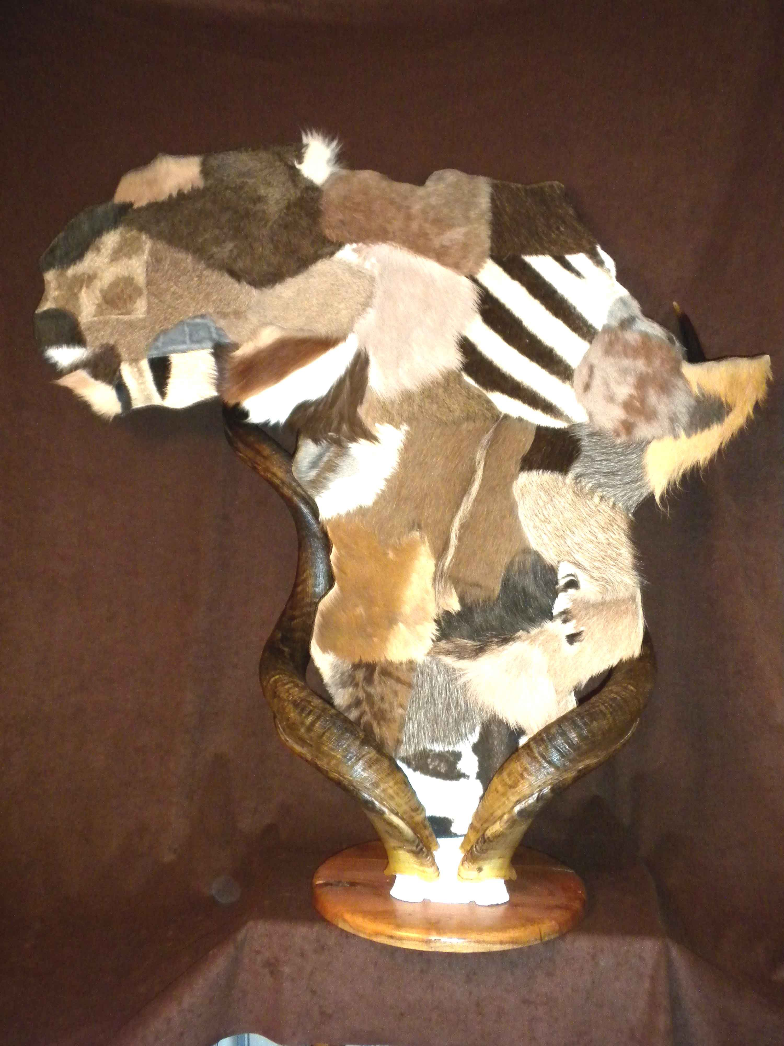 Map Of Africa Made From Animal Hides By Taxidermy Unlimited