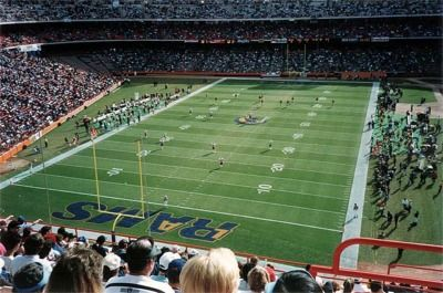 Anaheim Stadium Home Of The Los Angeles Rams Nfl Stadium Nfl Stadiums Los Angeles Rams Stadium