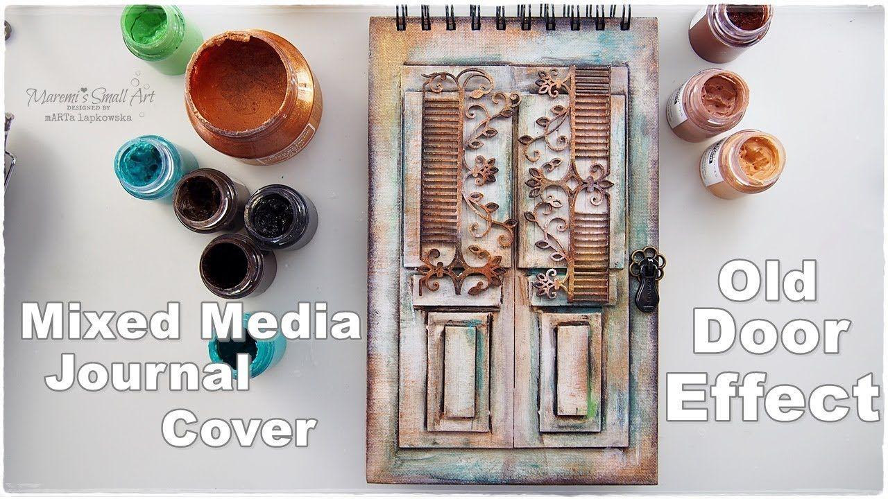 Diy old door effect journal book cover tutorial craft hack