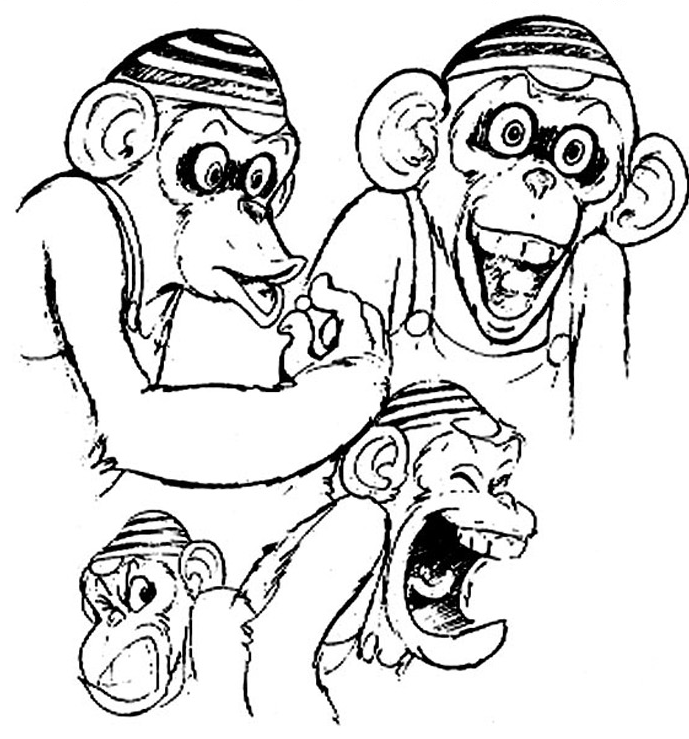 Chim Chim various concept drawings for cartoon series