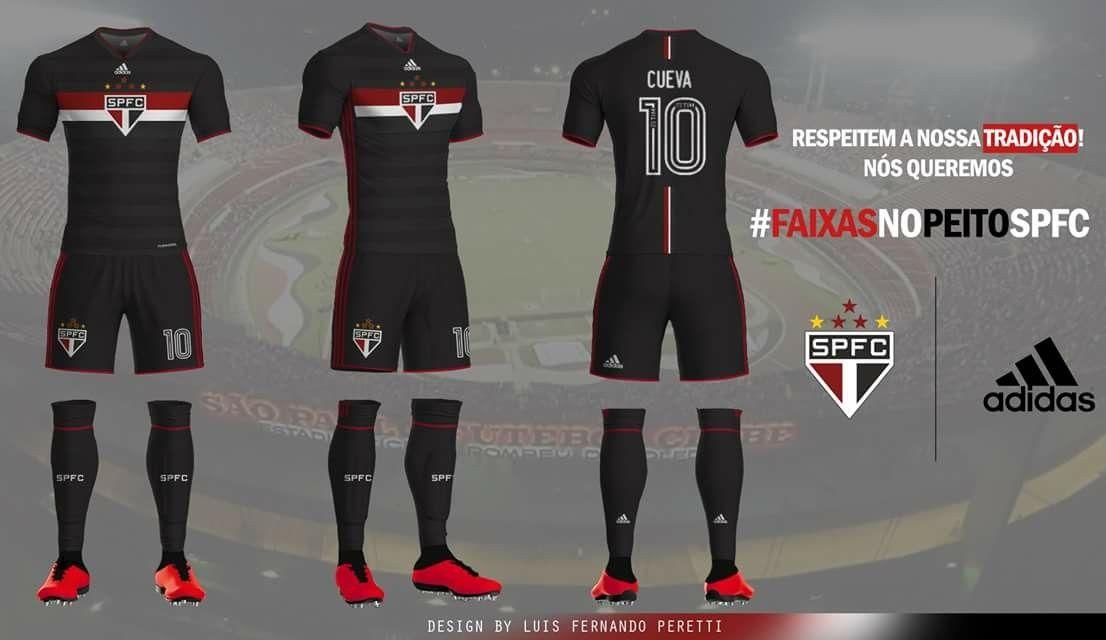 Uniforme 03 Adidas São Paulo futebol clube  018521cfe2e37