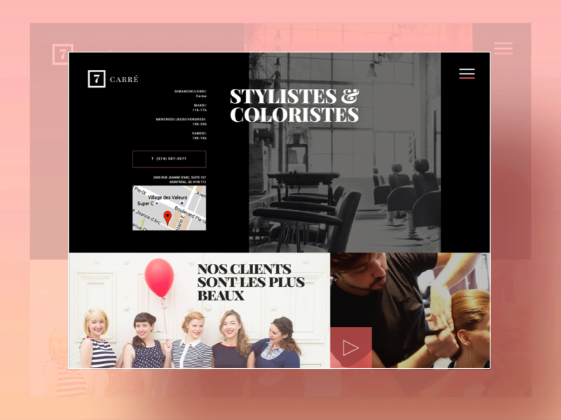 UI - Homepage Beauty / Stylist by Camille Pilon