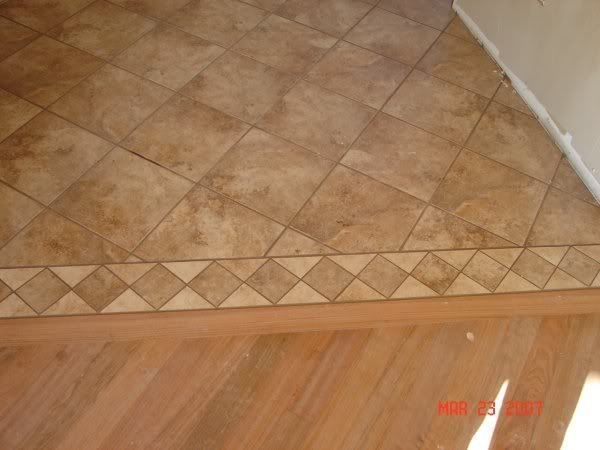 Tile And 34 Hardwood Transition Gap Flooring Contractor Talk