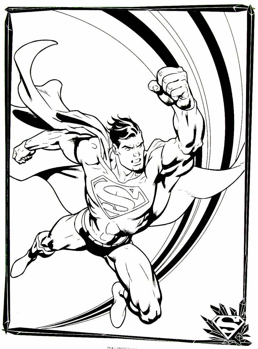 Superman Printable Coloring Book Page For Kids Printable Coloring Book Coloring Books Printable Coloring