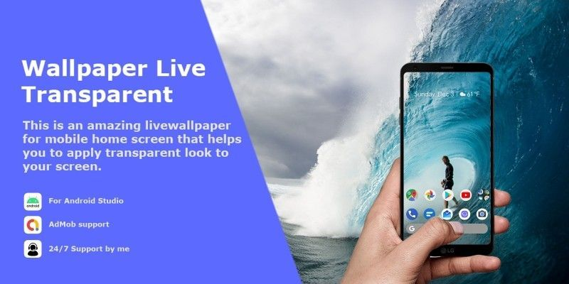 Transparent Live Wallpaper Android Source Code By Micodes Android Source Code Live Wallpapers Android Wallpaper