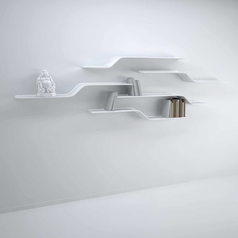 Shelves pinterest etagere murale for Etagere salon design