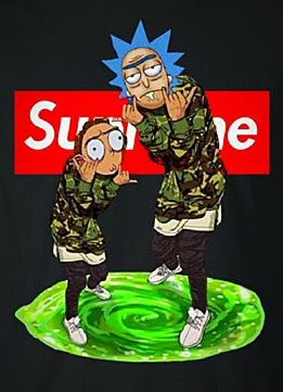 Supreme X Rick Morty