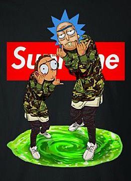 Supreme X Rick Morty Rick And Morty Poster Rick And Morty R Rick And Morty