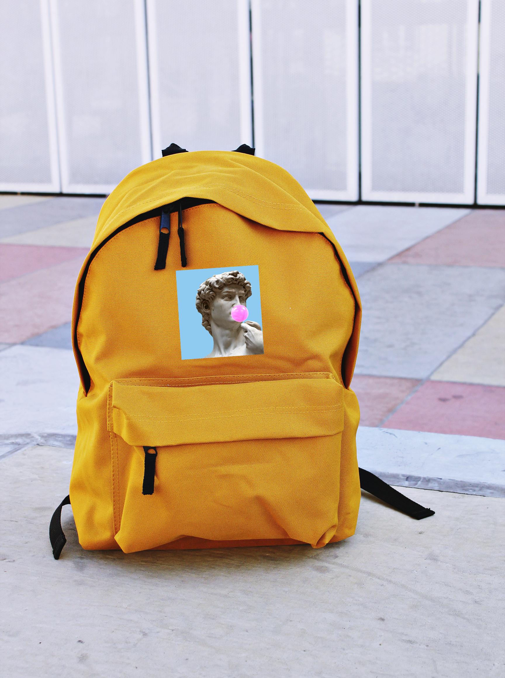 Plecak Szkolny A4 Dawid Michal Aniol Rzezba Guma Balon Fake Art Duzy Bags Backpacks Fashion Backpack