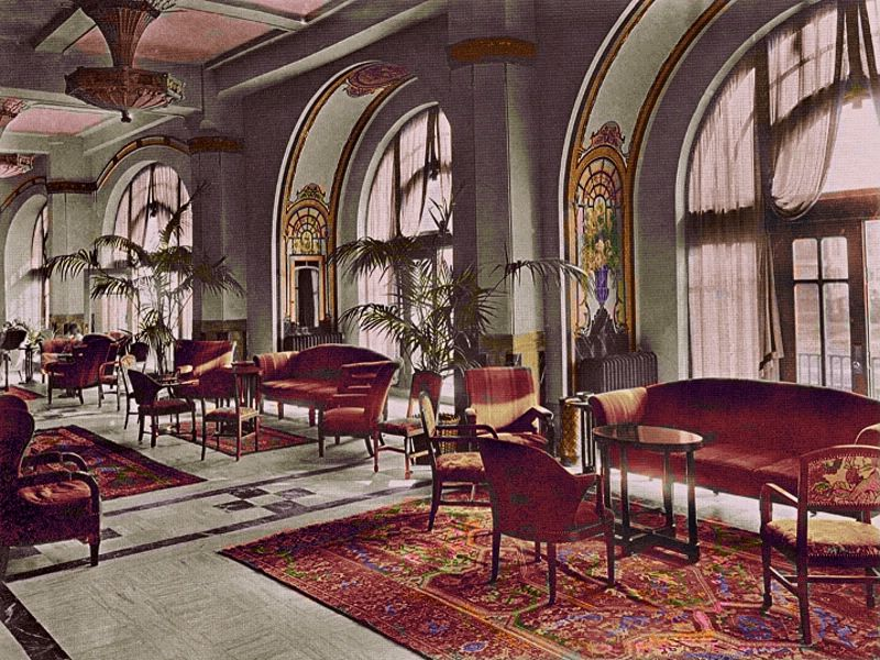 The Exchange And Lobby Of The Traymore When New Colorization Done By Me Vintage Hotels Great Vacation Spots Atlantic City